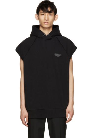 Givenchy - Black Sleeveless Logo Hoodie