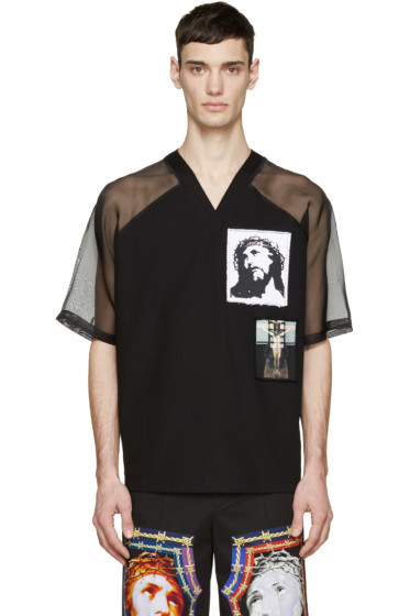 Givenchy - Black Jesus Patches T-Shirt