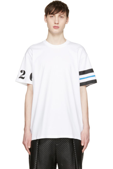 Givenchy - White Numbers & Stripes T-Shirt