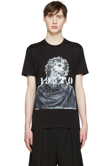 Givenchy - Black Jesus & Numbers T-Shirt