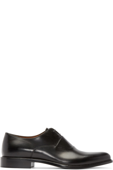 Givenchy - Black Leather Oxfords