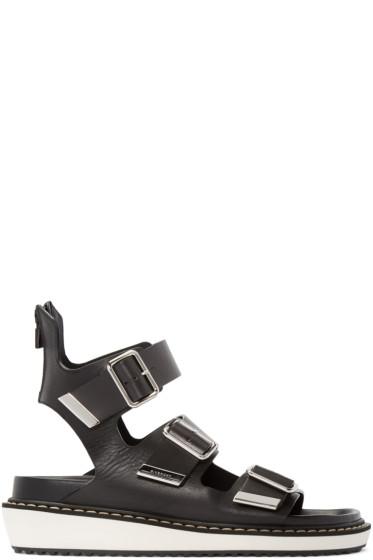 Givenchy - Black Multi-Strap Sandals