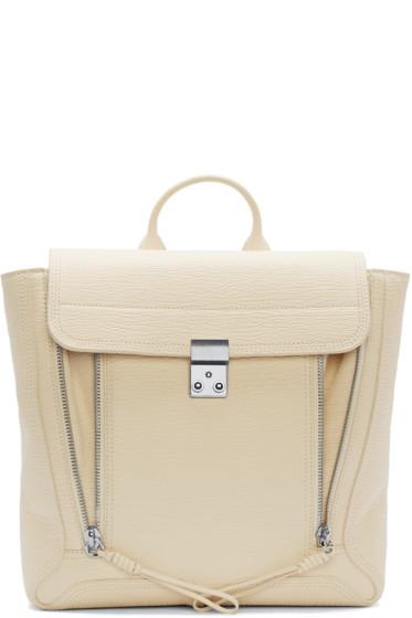 3.1 Phillip Lim - Cream Leather Pashli Backpack