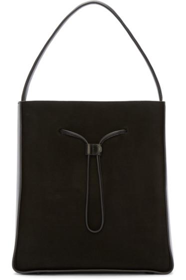 3.1 Phillip Lim - Black Suede & Leather Large Soleil Bucket Bag