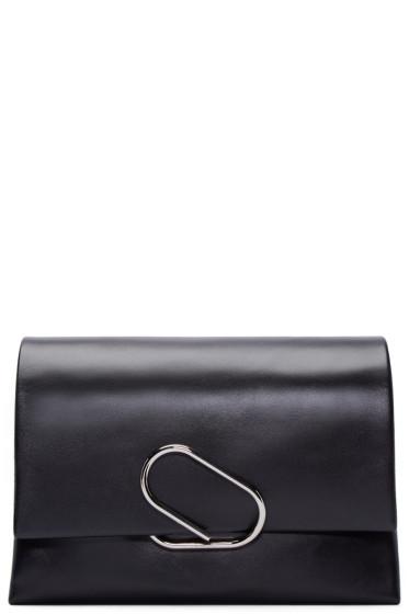 3.1 Phillip Lim - Black Medium Flap Alix Clutch