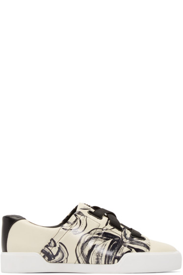 3.1 Phillip Lim - Off-White Leather Morgan Sneakers