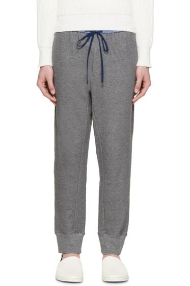 3.1 Phillip Lim - Grey Contrast Waistband Lounge Pants