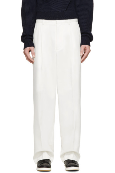 3.1 Phillip Lim - Ivory Pleated Wide-Leg Trousers