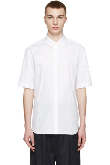 3.1 Phillip Lim - White Tonal Stripe Shirt