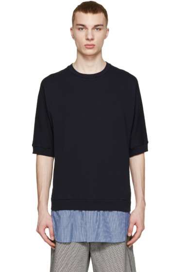 3.1 Phillip Lim - Navy Shirt-Tail Pullover
