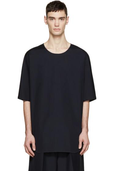3.1 Phillip Lim - Navy Poplin T-Shirt