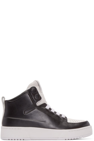 3.1 Phillip Lim - Black & White PL31 High-Top Sneakers