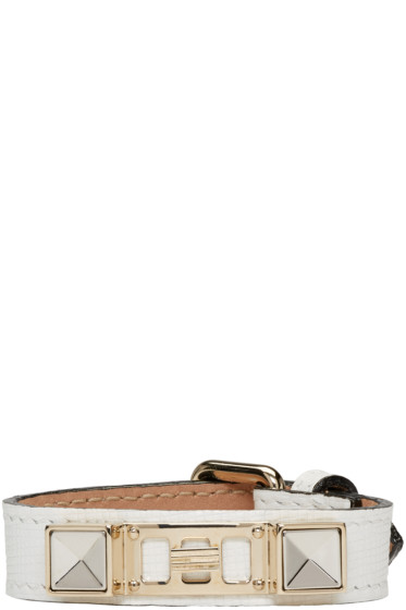 Proenza Schouler - White Leather PS11 Single Wrap Bracelet
