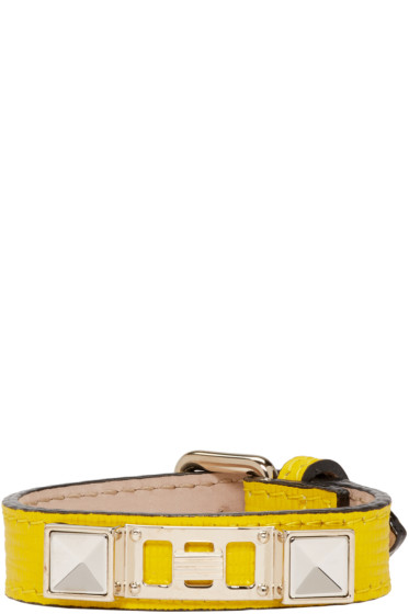 Proenza Schouler - Yellow Leather PS11 Single Wrap Bracelet