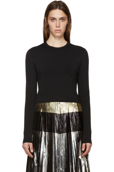 Proenza Schouler - Black Cropped Knit Sweater