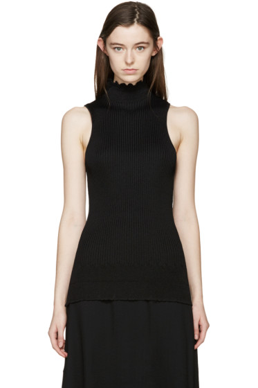 Proenza Schouler - Black Sleeveless Ribbed Turtleneck