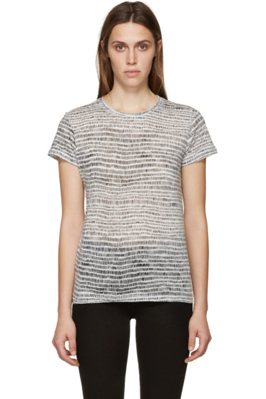 Proenza Schouler - White & Black Brushstroke Shirt