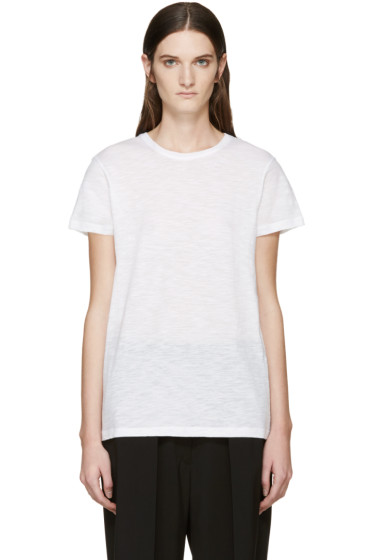 Proenza Schouler - White Slub Cotton T-Shirt