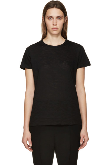 Proenza Schouler - Black Slub Cotton T-Shirt
