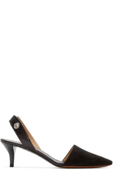 Proenza Schouler - Black Slingback Kitten Heels