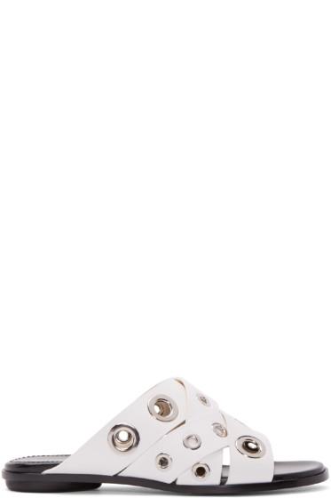 Proenza Schouler - White Eyelet Sandals