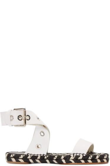 Proenza Schouler - Black & White Leather Espadrilles