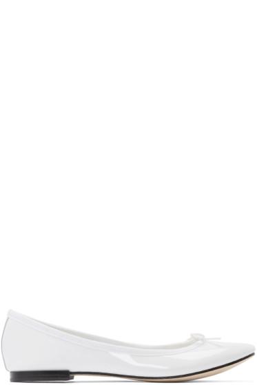 Repetto - White Patent Leather Cendrillon Ballerina Flats