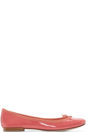 Repetto - Pink Patent Leather Cendrillon Ballerina Flats