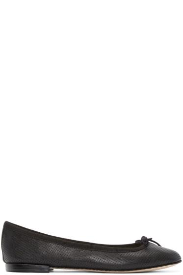 Repetto - Black Perforated Cendrillon Ballerina Flats