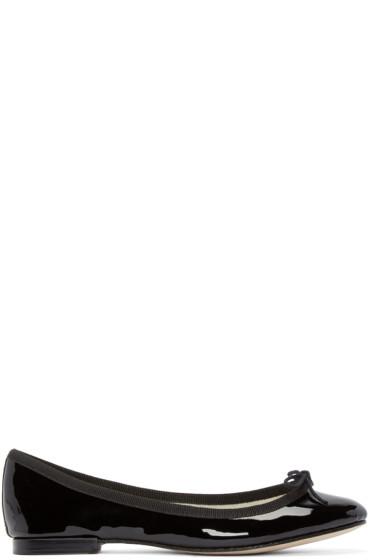 Repetto - Black Patent Leather Cendrillon Ballerina Flats