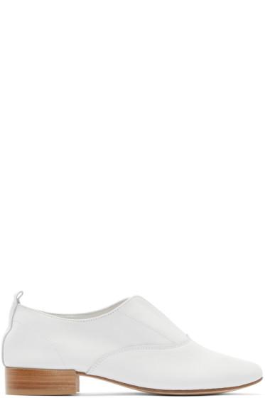 Repetto - White Leather Dean Oxfords