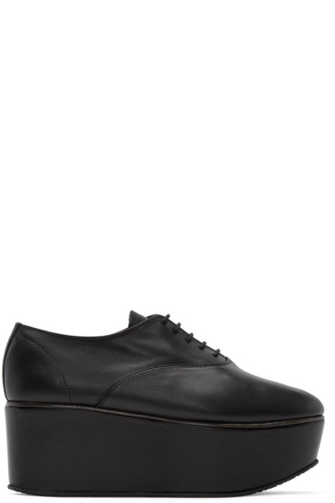 Repetto - Black Leather Platform Donie Oxfords