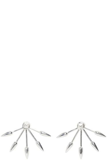 Pamela Love - Silver 5 Spike Stud Earrings