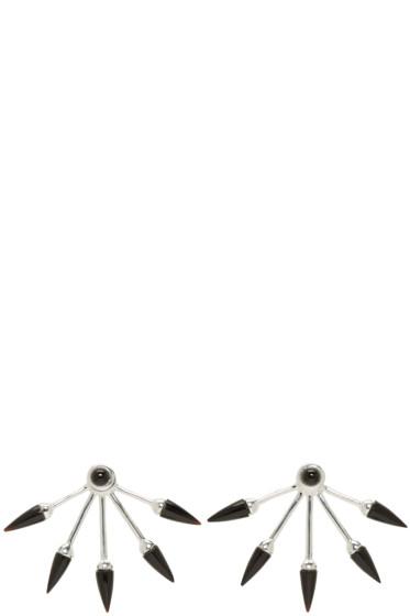 Pamela Love - SSENSE Exclusive Silver 5 Spike Earrings