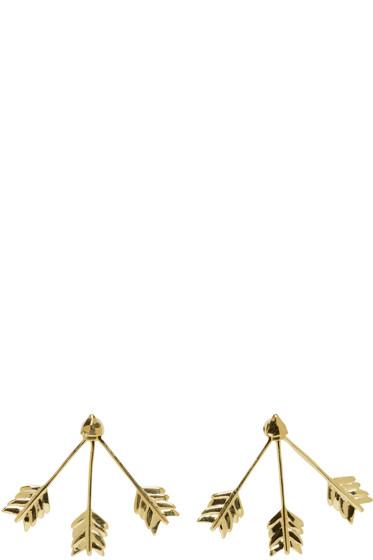 Pamela Love - Gold Triple Arrow Earrings