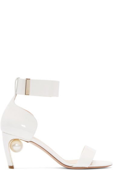 Nicholas Kirkwood - White Patent Leather Maeva Sandals