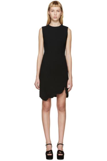 Carven - Black Crepe Scalloped Dress