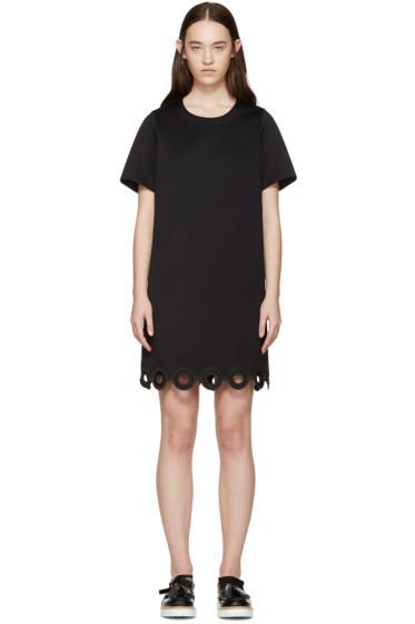 Carven - Black Lasercut Circle Dress