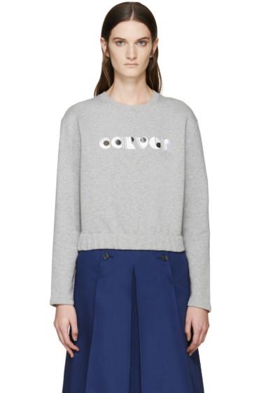 Carven - Grey Logo Pullover