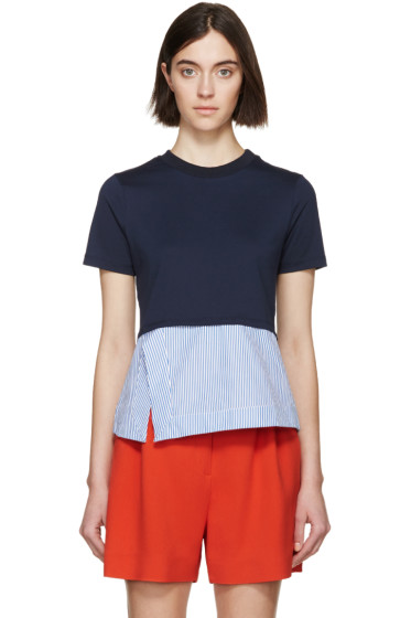 Carven - Navy Striped Pullover