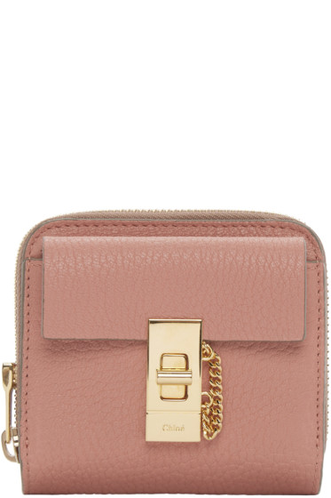 Chloé - Pink Small Square Drew Wallet