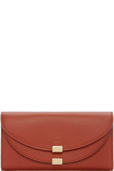 Chloé - Red Long Georgia Wallet