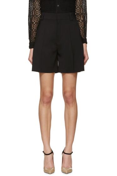 Chloé - Black Wool Shorts