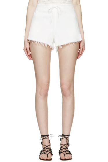 Chloé - White Denim Shorts