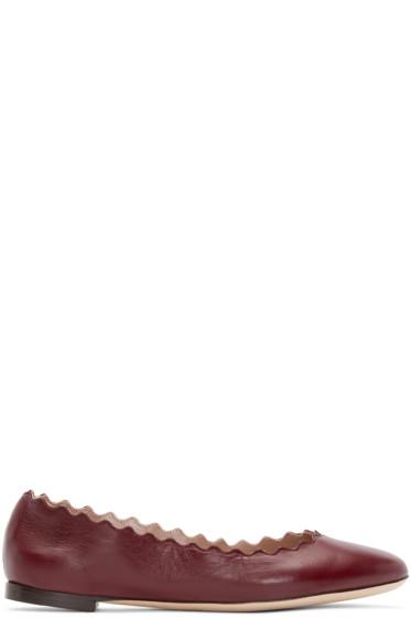 Chloé - Purple Suede Lauren Ballerina Flats