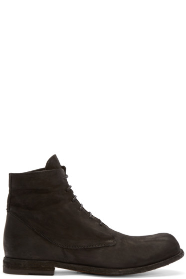 Officine Creative - Black Brushed Leather Boots