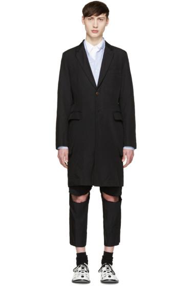 Comme des Garçons Homme Plus - Black Twill Press Stud Coat