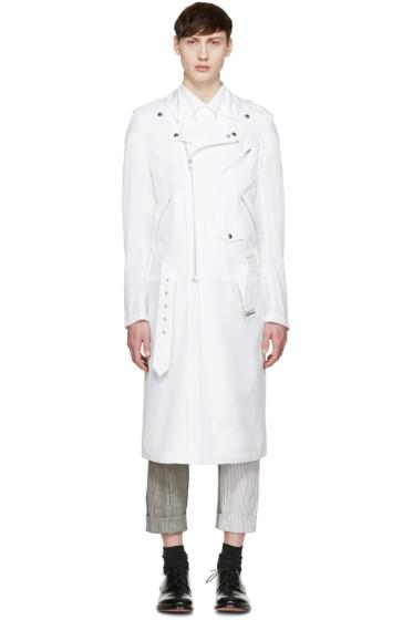 Comme des Garçons Homme Plus - White Extended Rider Coat