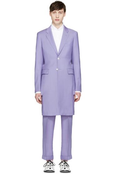 Comme des Garçons Homme Plus - Purple Wool Slit Blazer