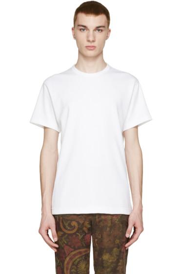 Comme des Garçons Homme Plus - White Burnt Effect T-Shirt